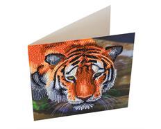 Tiger, 18x18cm Crystal Art Card