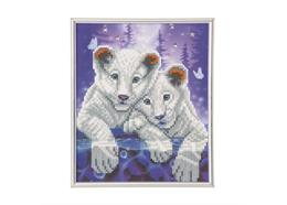 Tiger Cubs, 21x25cm Picture Frame Crystal Art