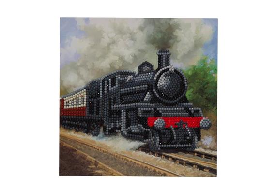 Train, 18x18cm Crystal Art Card