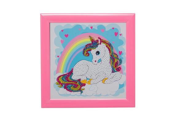 Unicorn Rainbow, 16x16cm Frameable Crystal Art
