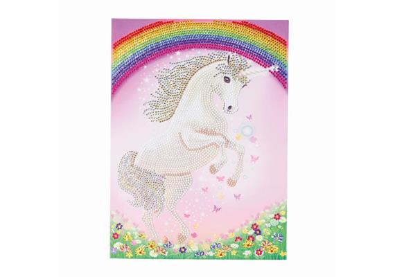 Unicorn Rainbow, 21x29cm Giant Crystal Art Card