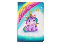 Unicorn Smile, Crystal Art Notebook