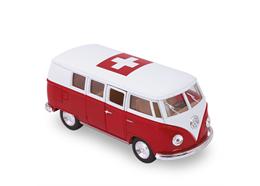 VW Bus rot gross 1962, CH-Kreuz, 12.5 cm