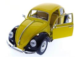 VW Käfer gelb schwarz gross, einzeln verpackt