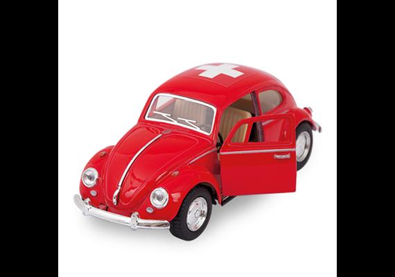 VW Käfer gross rot 1967, 17cm, mit CH-Kreuz