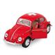 VW Käfer rot gross 1967, CH-Kreuz, 12.5 cm
