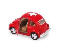 VW Kids rot mittel 1967, CH-Kreuz, 9 cm
