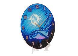 Watery Moon, Crystal Art Clock