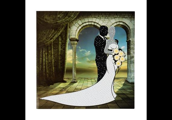 Wedding Couple, 18x18cm Crystal Art Card