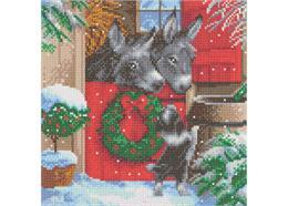 Weihnachtlicher Stall, 30x30cm Crystal Art Kit