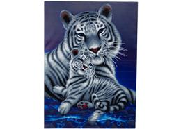 "Weisser Tiger ""liebende Umarmung"", 90x65cm Crystal Art Kit"