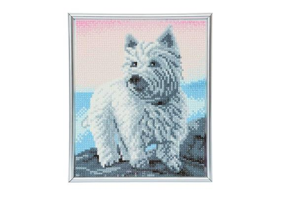Westie, 21x25cm Picture Frame Crystal Art