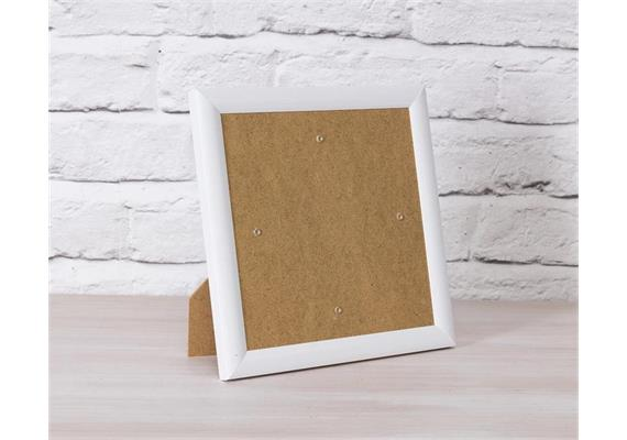 White, 21x21cm Picture Frame for Crystal Art Cards