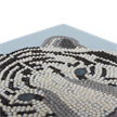 White Tiger Head, 18x18cm Crystal Art Card | Bild 3