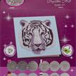 White Tiger Head, 18x18cm Crystal Art Card | Bild 4