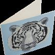 White Tiger Head, 18x18cm Crystal Art Card | Bild 2