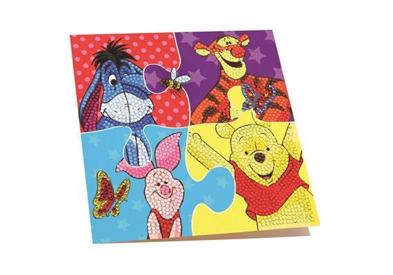 Winnie The Pooh Puzzle, 18x18cm Crystal Art Card