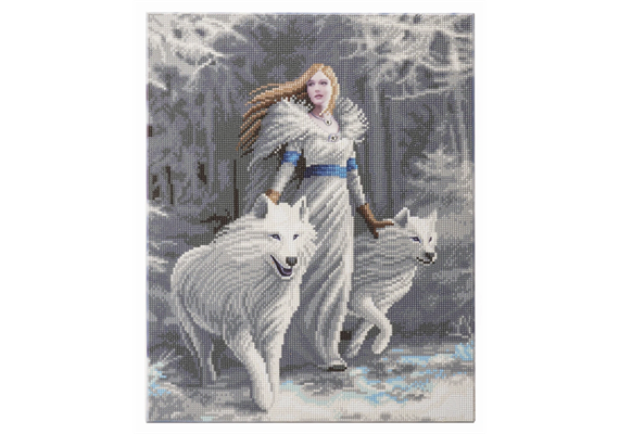 Winter Guardians: Anne Stokes, 40x50cm Crystal Art Kit