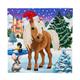 Winter Horse, 18x18cm Crystal Art Card