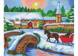 Winter Village, 40x50cm Crystal Art Kit