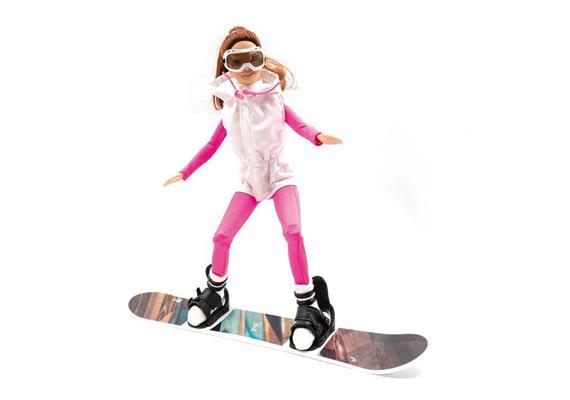 Winterpuppe Snowboard