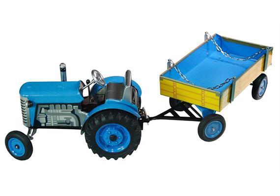ZETOR Tractor with Trailer blau