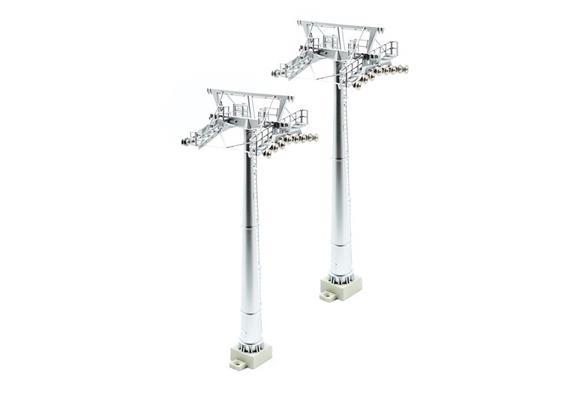 2 mâts pour téléphériques H0 H:16cm