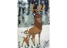 Bambi and Son, 10x15cm Crystal Art Card