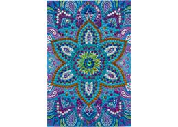 Blue Mandala, 10x15cm Crystal Art Card