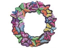 Butterfly 30cm Crystal Art Wreath