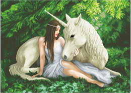 Cœur pur: Anne Stokes, 90x65cm Crystal Art Kit
