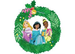 Christmas Princess 30cm Disney Crystal Art Wreath