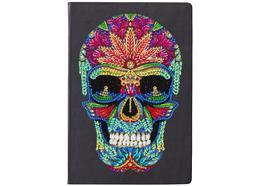 Crâne coloré, Crystal Art Carnet de notes