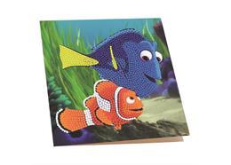 Dory and Marlin, 18x18cm Crystal Art Card