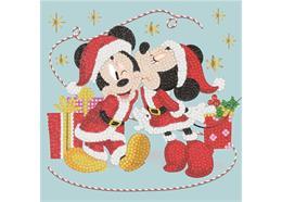 Festive Mickie and Minnie, 18x18cm Crystal Art Car