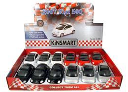 Fiat 500 farbig gross, 12.5 cm, neutral, 4-fach sort. Farben weiss, grau, rot, schwarz