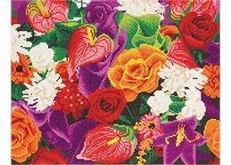 Fleurs, 40x50cm Crystal Art Kit