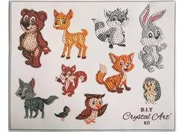 Friendly Forest Animals, 21x27cm Crystal Art Sticker Set