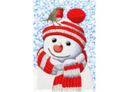 Friendly Snowman, Crystal Art Notebook