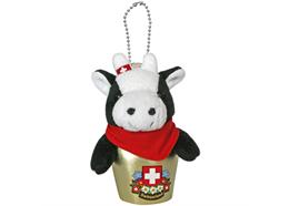 Glocken HappyBells Louisa, die Kuh schwarz-weiss, Grösse M, Nachfüllset, Grösse: 9 - 10 cm