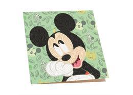 Happy Mickey, 18x18cm Crystal Art Card