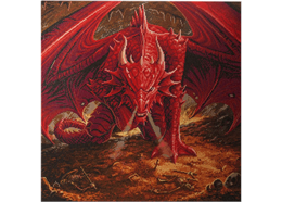 La tanière du dragon: Anne Stokes, 70x70cm Crystal Art Kit