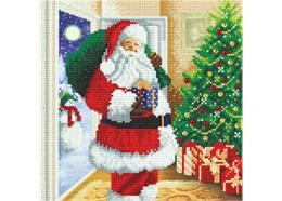 Le Père Noël est là ! 30x30cm Crystal Art