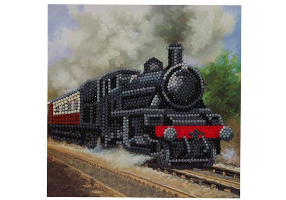 Le Train, carte 18x18cm Crystal Art
