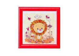 Lion, 16x16cm à encadrer Crystal Art