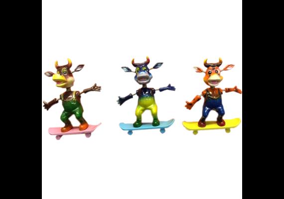 Magnet, Bulle auf Skateboard 3-fach assortiert h:8cm