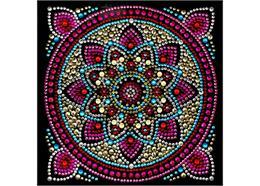 Mandala, carte 18x18cm Crystal Art
