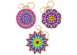 Mandalas, Crystal Art porte-clés Kit 3 pièces