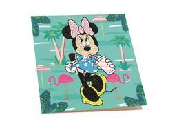 Minnie on Holiday, 18x18cm Crystal Art Card