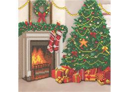 Noël chaleureux, 30x30cm Crystal Art Kit